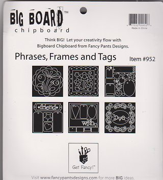 Fancy Pants Big Board Chipboard 6 Inch by 6 Inch Sheet, Phrases/Frames/Tags -