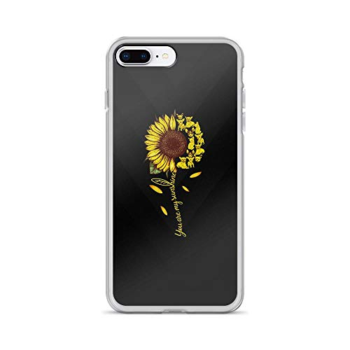(iPhone 7 Plus/8 Plus Pure Clear Case Cases Cover You are My Sunshine - Cute Dogs TPU Full Protective Slim Cover)
