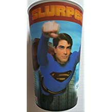 Superman Returns 2008 Collectible Tumbler 32 ounce oz Scene 3 Plastic Drinking Limited Edition Ed. Collectors Collectible Seven Eleven Slurpee Cup Drink Thirty-two oz Original Genuine by 7/11 Stores Icee