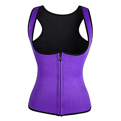 POPNINGKS Women Waist Fitness Corset Slim Sport Body Shaper Sweat Vest Ladies Waist Trainer Corset for Workout Slimming: Clothing