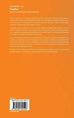 Vanadium: Biochemical and Molecular Biological Approaches