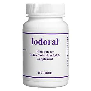 Optimox - Iodoral, High Potency Iodine Potassium Iodide Thyroid Support Supplement, 180 Tablets