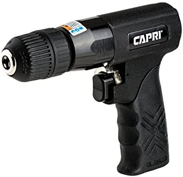 Capri Tools 32071 CP Jacob Keyless Chuck Reversible Superlight Air Drill