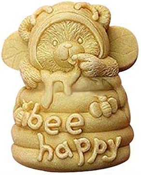3D Bee Happy Craft Art Silicone Soap mold Craft Molds DIY Handmade Candle mold Chocolate Mold moulds