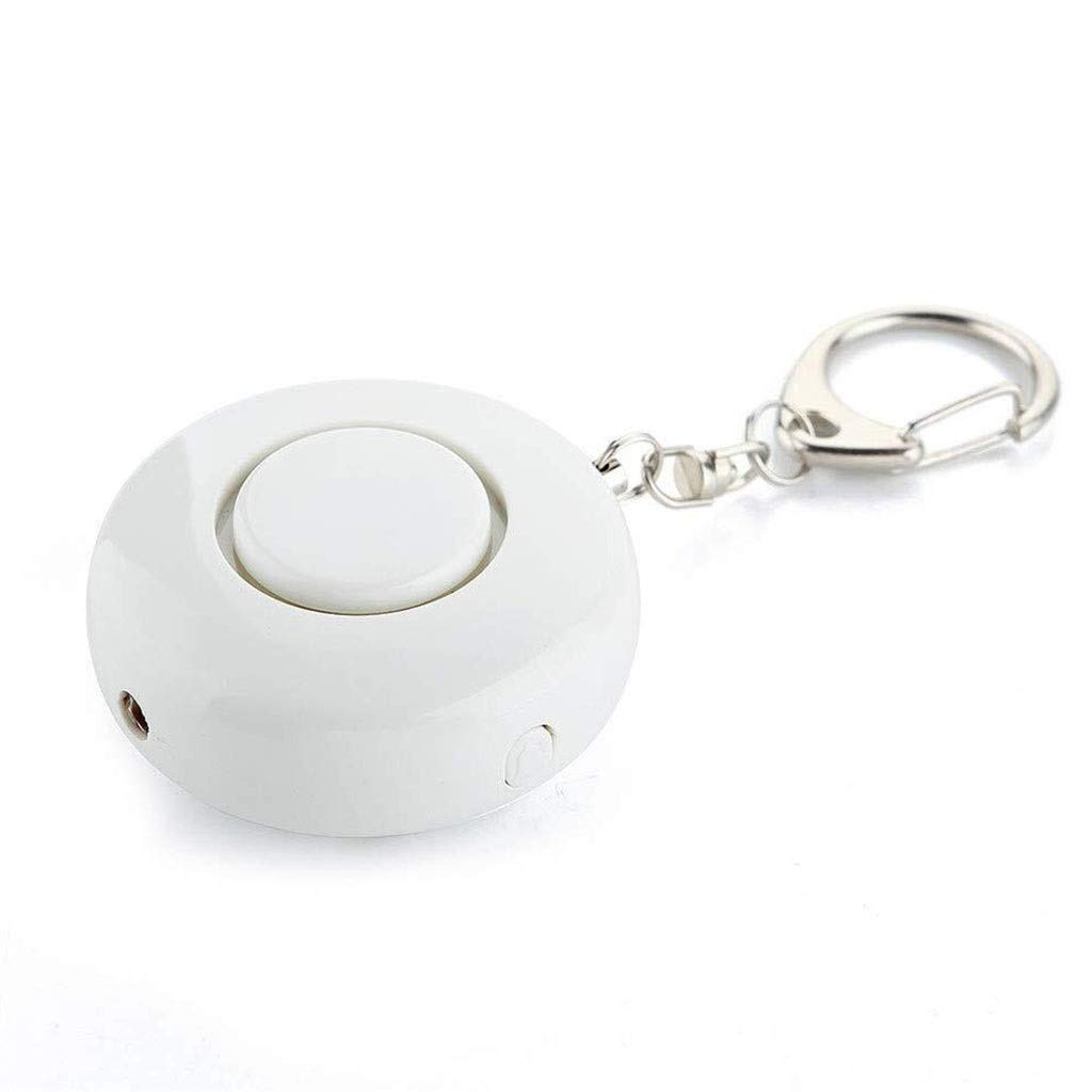 Personal Alarm Security Alarm- Self Defense Flashlight Alarm Panic Alarm Pocket Guardian Keychain Women Girl Kids Elderly Bidirectional Switch (Color : White) by Personal Alarm