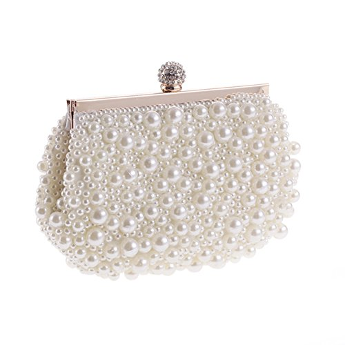 - Fit&Wit Evening Bag, Artificial Pearl Clutch Purse Handbag Shoulder Bag for Women
