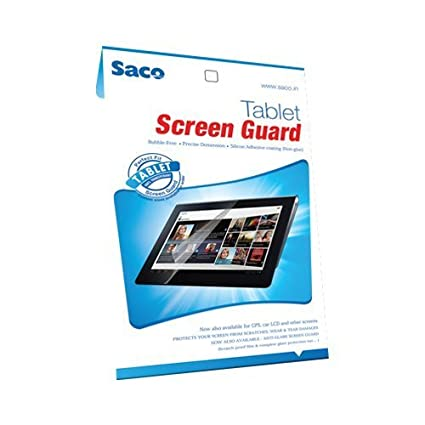Saco Ultra Clear Glossy HD Screen Guard Scratch Protector for iBall Slide 6351 Q40i Tablet Screen Protectors