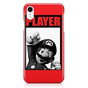 Loud Universe Classic Mario Brother iPhone XR Case Black And White iPhone XR Cover with 3d Wrap around Edges