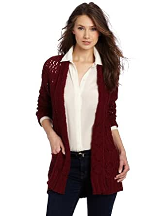 Lucky Brand Women's Huntington Sweater, Eastern Red, X-Small