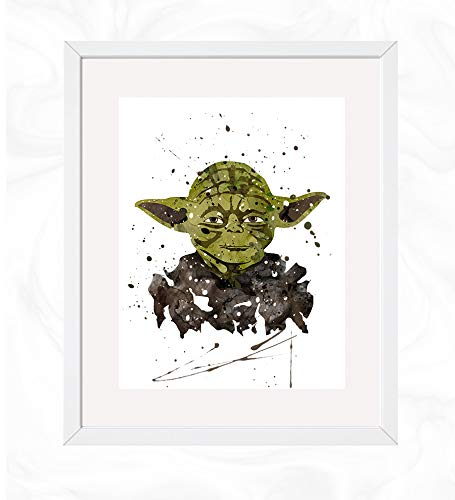 with Yoda Posters design