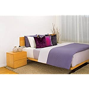 Image of 2 threads Duvet Cover in Purple and Silver