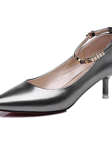 GGX/Damen Schuhe Patent Leder Frühling/Sommer/Herbst/Winter Heels Office & Karriere/Casual Stiletto schwarz/silber black-us8.5 / eu39 / uk6.5 / cn40