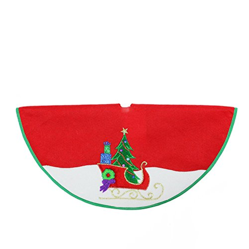 """Northlight 20"""" Red and White Mini Christmas Tree Skirt wi..."""