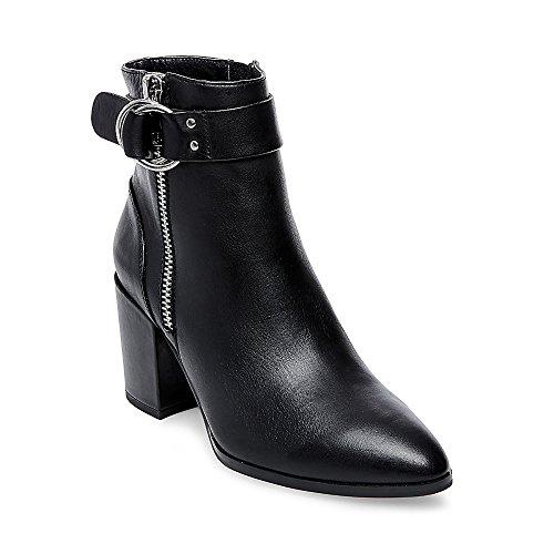 STEVEN by Steve Madden Women's johannah Ankle Bootie, Black Leather, 10 M US