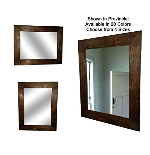Shiplap Large Wood Framed Mirror Available in 4 Sizes and 20 Colors: -