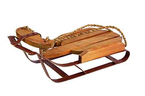 Darice 2515 Vintage Wooden Sled Christmas Decoration Medium - Wooden Sleigh