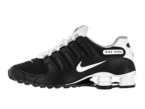Nike Shox Nz Se Herre Running-sko 833.579 Sort / Hvid / Ulv Grå B1Qjt