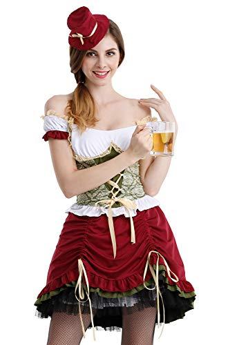 LOMON Women's Beer Babe Oktoberfest Costume Medieval