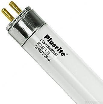 FL54//T5//850//HO 25 Pack High Output 5000K 800 Series 54W T5 Bulbs Plusrite 4128