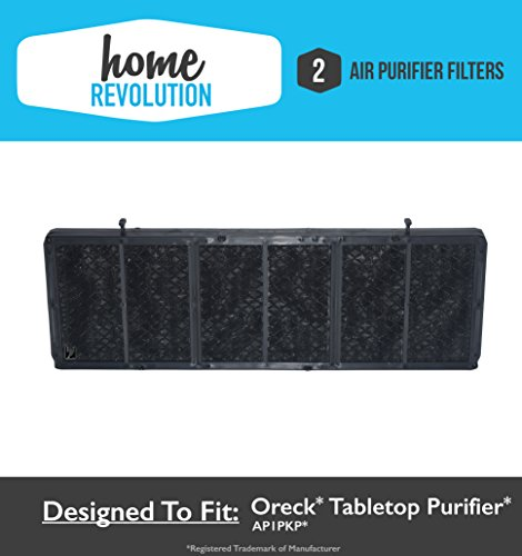 2 Oreck AP1PKP Odor Absorbing Tabletop Professional Pro Comparable Air Purifier Filter. A Home Revolution Brand Quality Aftermarket Replacement (2 PK)