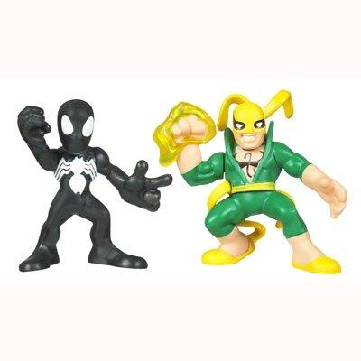 Marvel Superhero Squad Series 14 Mini 3 Inch Figure 2-Pack Black Costume Spider-Man and Iron Fist