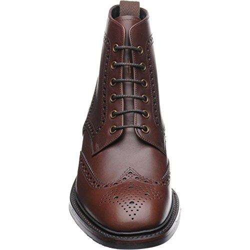 Aringa Burgh rubber-soled Brogue Boot in marrone Waxy, marrone (Brown Waxy), 44 EU