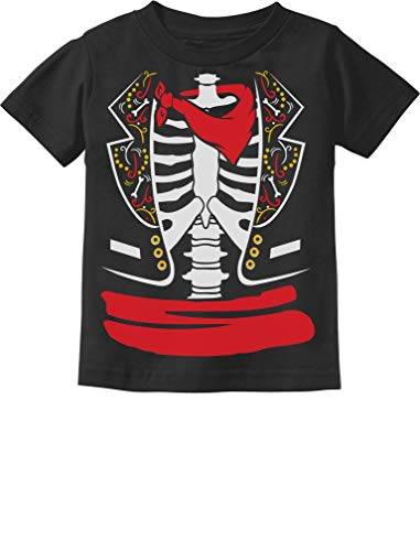 Tstars - Day of The Dead Halloween Mexican Skeleton Costume Toddler Kids T-Shirt 3T Black -