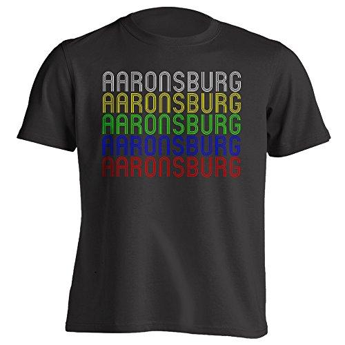 Vintage Style Retro Hometown - Aaronsburg, PA 16820 - Black - Large - Souvenir - Unisex - T-Shirt