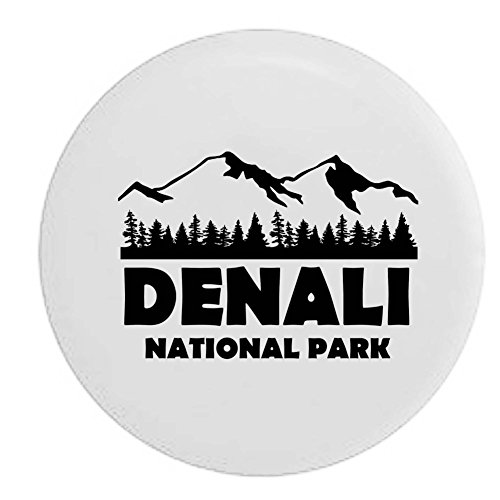 Pike Denali National Park Alaska Trailer RV Spare Tire Cover OEM Vinyl White 29 in by Pike Outdoors