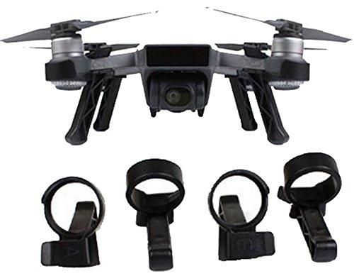 CZFRIEND DJI Spark Accessories Landing Stabilizers Gear & PTZ Protection Accessories & Leg Height Extender Stabilizers Set, Black - Ptz Positioning System