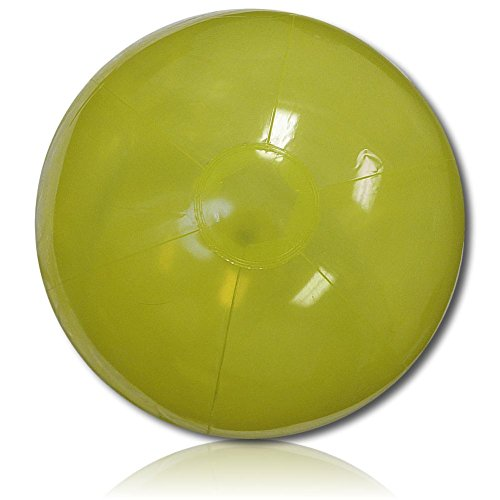 """Custom Beach Ball (ULTRA Durable & Custom {20"""" Inch} 1 Single of Large-Size Inflatable Beach Ball for Summer Fun, Made of Lightweight FLEX-Resin Plastic w/ Plain Solid Lemon Drop Grass Candy Color Shade Style {Green})"""