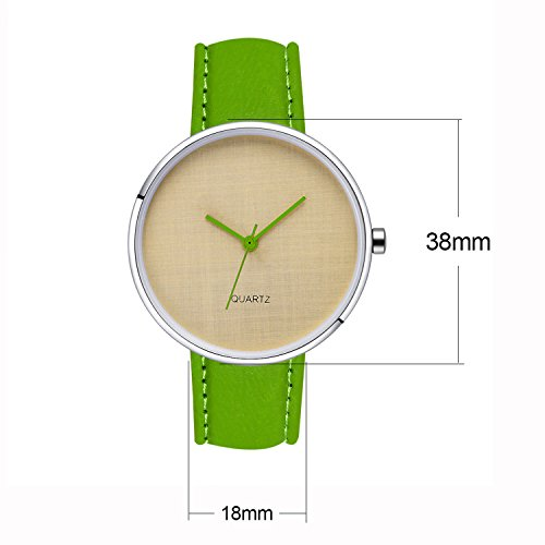 AIBI Womens Waterproof Dress Watches with 35mm Simple Case