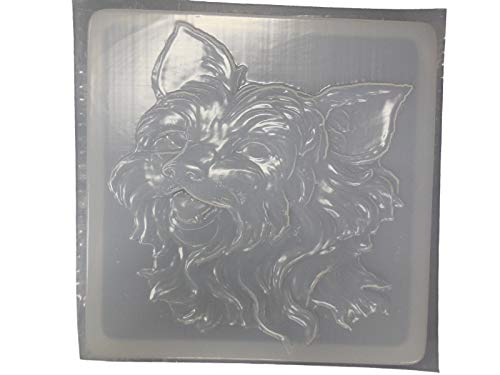 Yorkie Dog Stepping Stone Concrete or Plaster Mold 1273