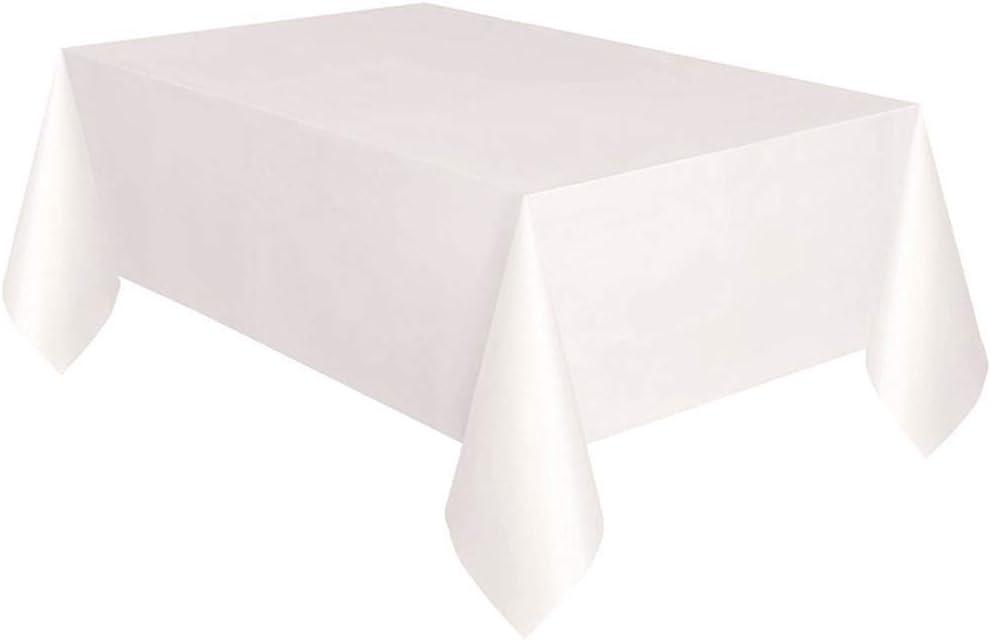Rose Guajave Jetables Nappe Plastique Banquet F/ête Rectangle Bureau Housse 54 X 72inch