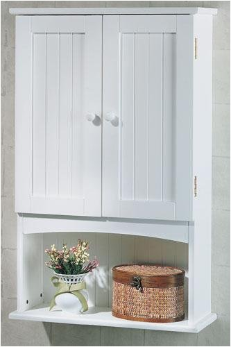 Merveilleux Madison Wall Cabinet Beadboard Doors White