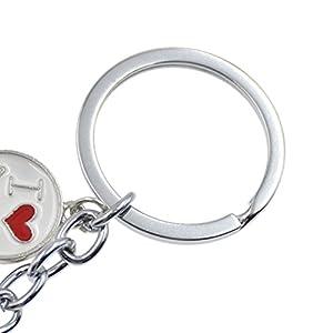 Cute Pet Dog Keychain Alloy Enamel Corgi Husky Poodle Keyring Love Tag Charm 1Pc
