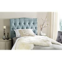 Safavieh Axel Sky Blue Upholstered Tufted Headboard (Twin)