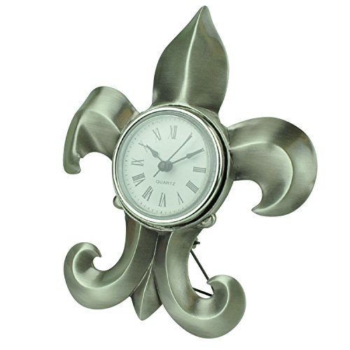 Quartz Clock - Fleur de Lis Design (Item # 101)