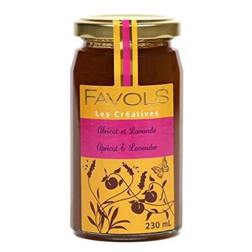 Apricot Orange Preserves - Favols All-Natural Artisan Jam, Apricot Lavender, Made in France, 270g Jar
