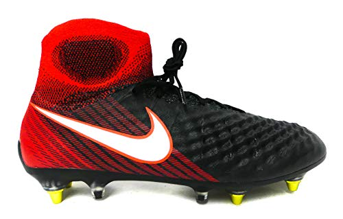(Nike Mens Magista Obra II SG-Pro Anti-Clog Soft Ground Cleat - (Black/White/Crimson) (10))
