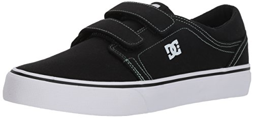 - DC Boys' Trase V TX Skate Shoe, Black/Green, 1 M M US Little Kid
