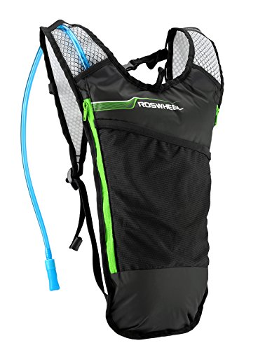 Roswheel 15937 Hydration Backpack with 2 L BPA Free Water Bladder, Green by Roswheel