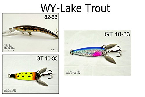 Akuna LT3A Lake Trout Fishing Lure for USA 50 States (Pack of 3), Wyoming