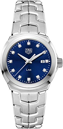 Tag Heuer Link Blue Diamond Dial Ladies Watch WBC1318.BA0600 -