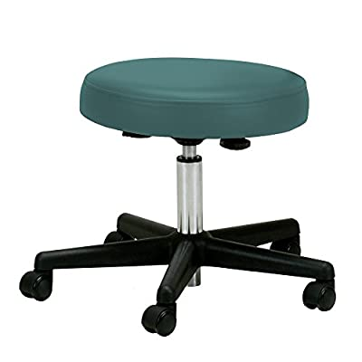 EARTHLITE Pneumatic Massage Therapist Stool - Adjustable, Rolling Massage Stool, No Leaking (vs. Hydraulic), CFC-Free