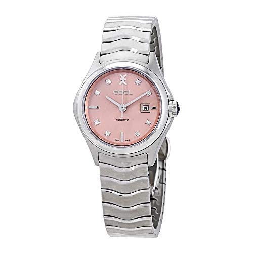 Ebel Wave Automatic Pink Galvanic Diamond Dial Ladies Watch 1216326