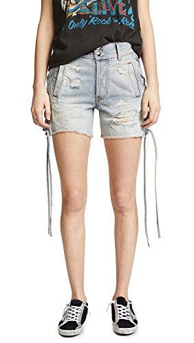 Faith Connexion Women's Laced Denim Shorts
