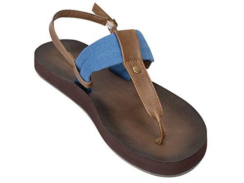 (Tidewater Cabana Collection Women's Flip Flop Sandals (8, Montauk Blue))