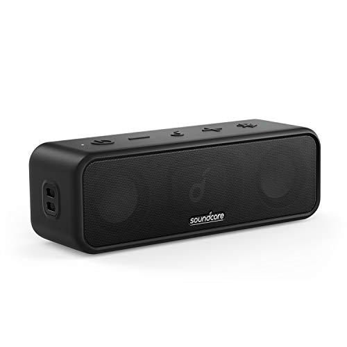Soundcore 3-Bluetooth-speaker met stereogeluid, membraandrivers van puur titanium, PartyCast-technologie, BassUp, 24u…