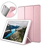 DTTO Apple iPad Air2 9.7 Inch Smart Cover, Ultra Slim Lightweight Smart Case Trifold Cover Stand with Flexible Soft TPU Back Cover for iPad Apple iPad Air2,9.7-inch [Auto Sleep/Wake], Rose Gold